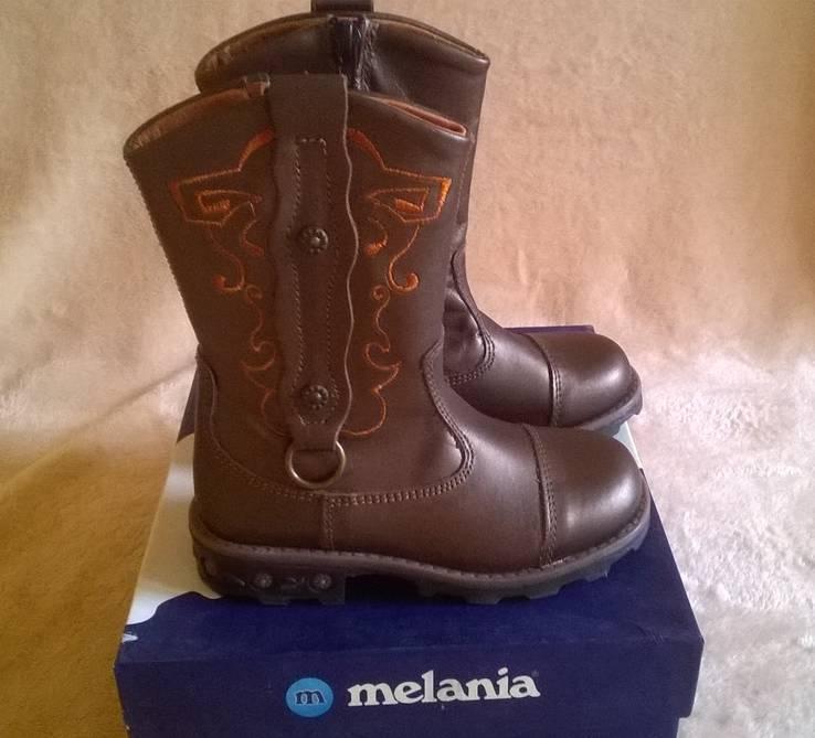 Сапоги кожание Италия Melania 26 размер.