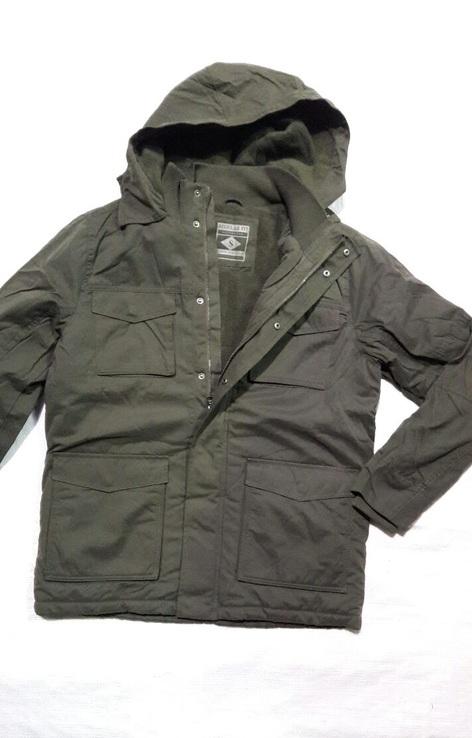 Парка олива новая. Куртка зимняя REGULAR FIT с капюшоном на флисе. Размер M