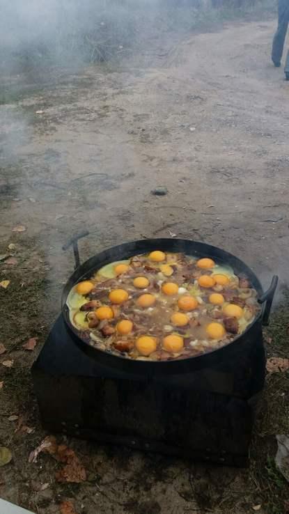 Сковорода из диска бороны диаметром 40см С Крышкой