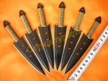 Ножи метательные 040 набор 6 шт с чехлом photo 1