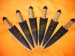 Ножи метательные 040 набор 6 шт с чехлом photo 3