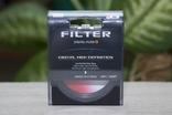 Светофильтр градиентный K&F Concept Red 58mm.