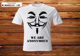 Футболка Анонимус. L. Белая.