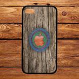 Чехол 2D силиконовый (TPU) iPhone 5/5S Черный. Принт Макинтош