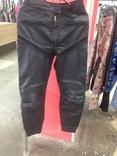 Кожаные байкирские штаны размер 36 photo 2