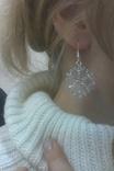Серьги снежинки. Новый год. Зима. photo 2