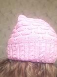 Красивая шапка чалма цикламен (ярко-розовый) photo 2