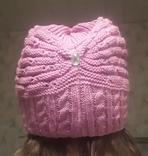 Красивая шапка чалма цикламен (ярко-розовый) photo 3
