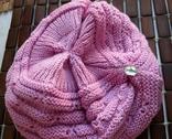 Красивая шапка чалма цикламен (ярко-розовый) photo 6