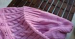 Красивая шапка чалма цикламен (ярко-розовый) photo 7