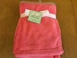 Детское одеяло плед розовое новое