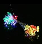 Гирлянда светодиодная. На батарейках, переносная. Автономная. Звезды. photo 6