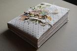 Блокнот ручной работы с нелинованными состаренными страницами -Осенний уют- 115 листов