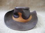 Шляпа кожаная вестерн USA p. XL ( USA ) Сост Нового