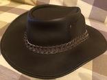 Кожаная шляпа BUTE photo 2