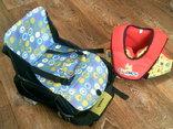 Munchkin travel booster стульчик рюкзак + жилет для купания