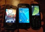 Лот из 3 Samsung: Смартфон Galaxy Gio GT-S5660; GT-B5722; GT-S5350