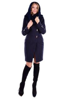 """Зимнее женское пальто Modus """"Римини"""" Турция. Тёмно Синее S"""
