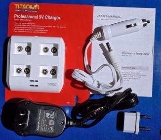Быстрая зарядка-автомат TITANIUM на 1-4 аккумулятора Крона 9V NiMH