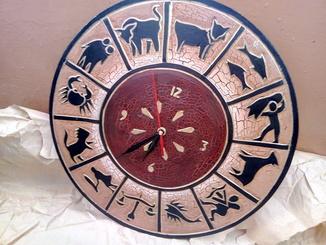 Часы знаки зодиака настенные Индонезия