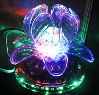 Диско светильник лилия , Диско шар ночник .