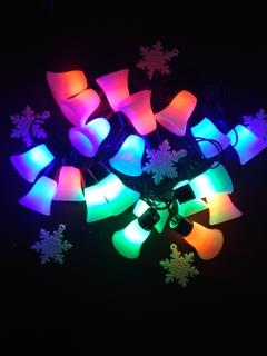 """Новогодняя гирлянда """"Колокольчики"""" на 20 лампочок."""