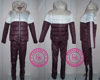 Зимний утеплённый костюм Шоколад - L (48)