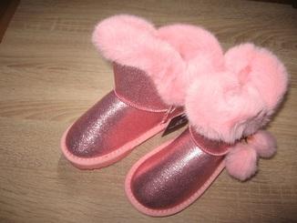 Детские зимние ботинки (угги) Apawwa для девочек (26-31)