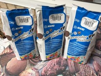 Затирка Mapei 3-ри уп. по 2 кг. цвет 144 шоколад.