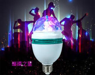 Вращающаяся диско лампа.