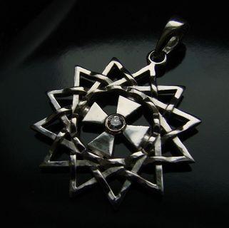 Звезда Эрцгаммы подвес серебро 925