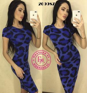 Модное платье миди синее XS