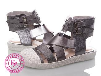 Модные бронзовые сандалии 35 размер