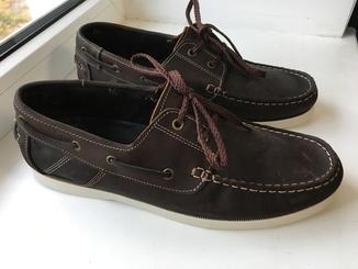 Кожаные туфли кеды мокасины FIRETRAP Caravel Shoes Mens