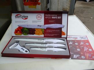 Набір Ножів 3 + . SWITZNER Нові колір Білий №1 з Німеччини