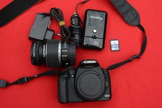 Canon 500d + EFS 18-55mm f/3.5-5.6 IS + hama uv 58 + 4GB