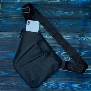 Мужская сумка кобура черная блиц