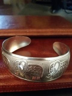 Браслет серебро Слоники Индия
