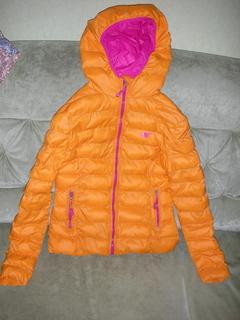 Куртка стильная, польского бренда 4F, оранжевая, размер М