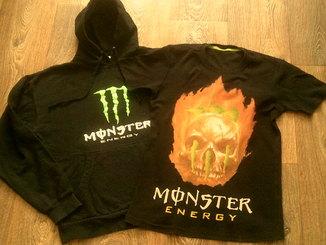 Monster energy - фирменная футболка+толстовка