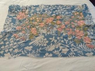 Цветы розовые вышивка