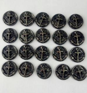 Пуговицы с якорем (фурнитура), 20 шт.