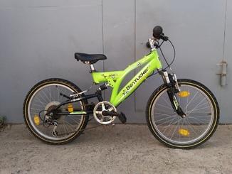 Велосипед 20 кол,два амортизатори, 6(передач)на вік 6-12років з Німеччини