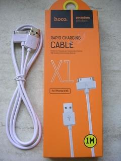 Кабель USB Hoco X1 Rapid Charging Cable Dock iPhone 4 Cable White