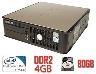 Системный блок DELL 760 SFF Е7500/DDR2 4Gb/80Gb