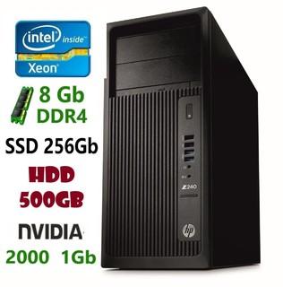 HP Z240 Рабочая станция e3-1225 v5/DDR4 8Gb/HDD 500Gb/SSD 256Gb/2000 1Gb