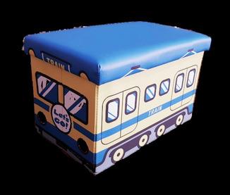 Пуфик-паровоз для хранения игрушек и других мелочей