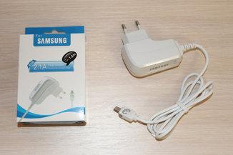 Зарядка Samsung micro Usb 2.1A (real)