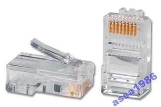 Коннектор -штекер сетевой для кабеля витая пара RJ45 8P8C kat 5E поштучно 1 лот 1 штука