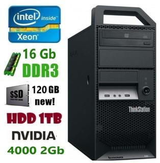 E30 Рабочая станция Lenovo E3-1270/DDR3 16Gb/HDD 1Tb/SSD 120Gb/Nvidia 4000 2Gb
